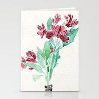 peru Stationery Cards featuring Peru Lilies by Kate Havekost Fine Art