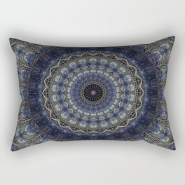Night Sky Mandala Rectangular Pillow