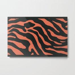 Tiger Skin Pattern Pelorous Orange Metal Print