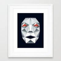 starfox Framed Art Prints featuring Star Fox Andross Lylat Lowpoly Laugher by Barrett Biggers