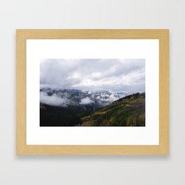 Foggy Fall Days Framed Art Print