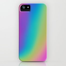 Shiny Holographic Aesthetic Rainbow Glitch Aesthetic Mash (v4) iPhone Case