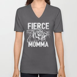 Fierce Momma / Red Unisex V-Neck