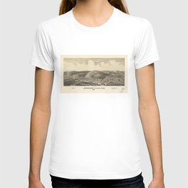 Aerial View of Johnsonville, New York (1887) T-shirt