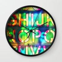 alphabet Wall Clocks featuring Alphabet by itsme23