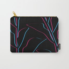 Summer Leaves in Blacked Out Retro 3D Carry-All Pouch