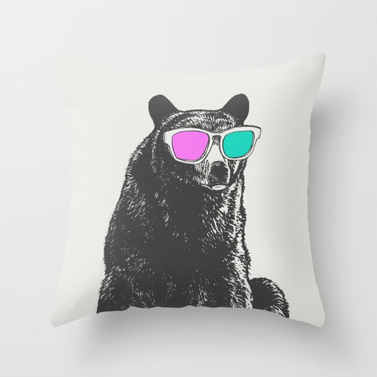 3D is Un-bear-able  Throw Pillow