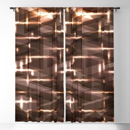 Bright cosmic luminous blackened bronze triangles. Blackout Curtain