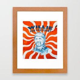 Willie For President Framed Art Print