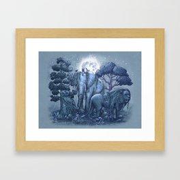 Stone Garden Framed Art Print