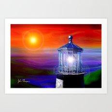 Light house 2 Art Print