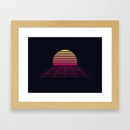 Retrowave sunset 2 / 80s - 90s Retro Framed Art Print