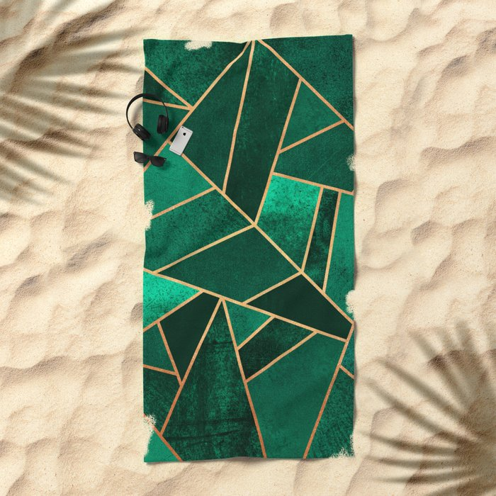 Emerald and Copper Beach Towel