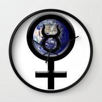 taurus Wall Clocks featuring Taurus by IRIS Photo & Design