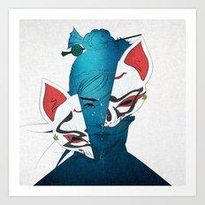 Fox Mask Art Print