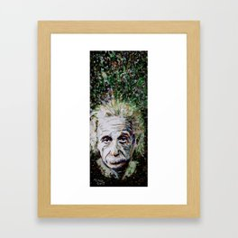 Albert Einstein - brainstorm Framed Art Print