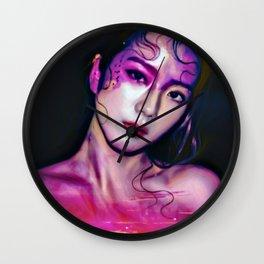 Magenta pink Wall Clock
