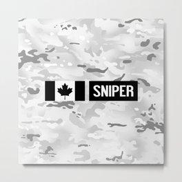 Canadian Military: Sniper (Arctic) Metal Print