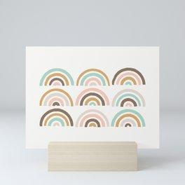 Stamped Rainbows - Coffee Mini Art Print