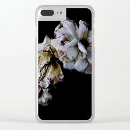 Decaying flowers Clear iPhone Case