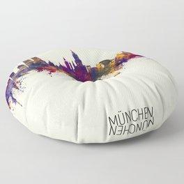 Munich Germany Skyline Floor Pillow