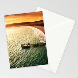 santa monica pier Stationery Cards