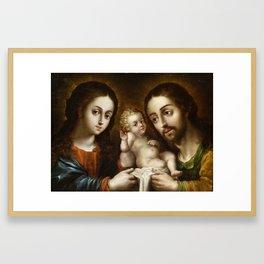 Nicolas Rodriguez Juarez - The Holy Family (La sagrada familia) Framed Art Print