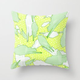 TROPICS - GREEN Throw Pillow