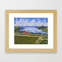 Vineyard On Canandaigua Lake Framed Art Print