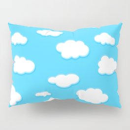 sky of blue and fluffly white clouds Pillow Sham