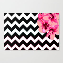 Chevron Blossom Canvas Print