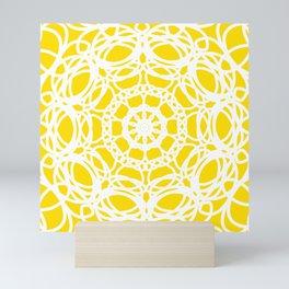 Mandala Yellow Pattern Mini Art Print