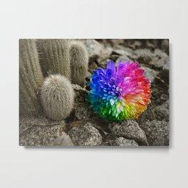 flower in the desert Metal Print