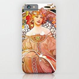 Alphonse Mucha Daydream Floral Vintage Art Nouveau iPhone Case