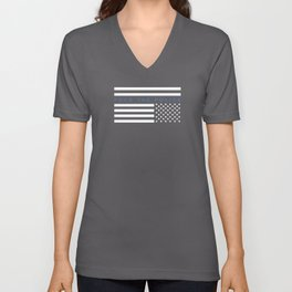 Fuck the Police American Flag Unisex V-Neck