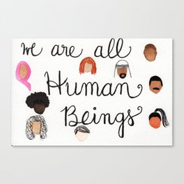 Human Beings 2 Canvas Print