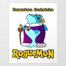 Downton Dolphin Art Print