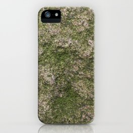 Stone and moss iPhone Case