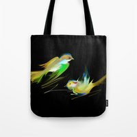 weed Tote Bags featuring weed by tatiana-teni