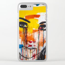 The unseen emotions of her innocence Clear iPhone Case
