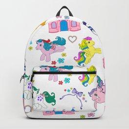 g1 my little pony pattern Backpack