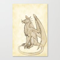 warcraft Canvas Prints featuring Lyrasz; Portrait of a Young Wyrm by Defiler Wyrm
