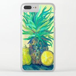 Pear and Pineapple Clear iPhone Case