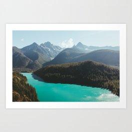Brilliant Blue Diablo Lake II Art Print
