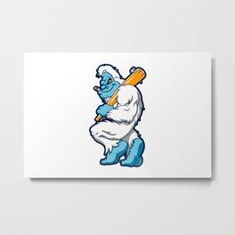 Baseball sasquatch Metal Print