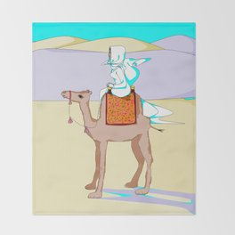 Women of the Earth Series: Woman of the Dessert and Camel Throw Blanket