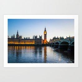Big Ben During Sunset | London England Europe Cityscape Night Photography Art Print