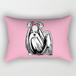 Longhaired Shih Tzu Rectangular Pillow