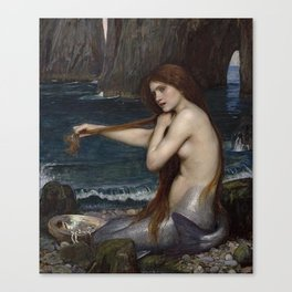 A MERMAID - WATERHOUSE Canvas Print
