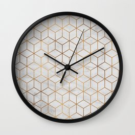 Marbled Copper Cubes Wall Clock